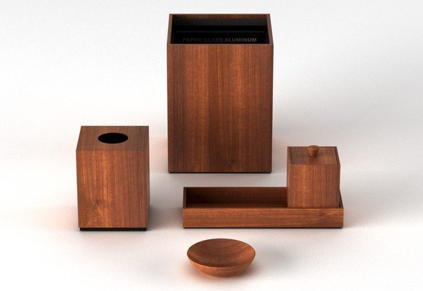 Via motif international products teak cube canister for Bathroom accessories sets on sale