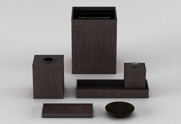 Bathroom accessories_woven leather match_java copper-614-xxx_q85