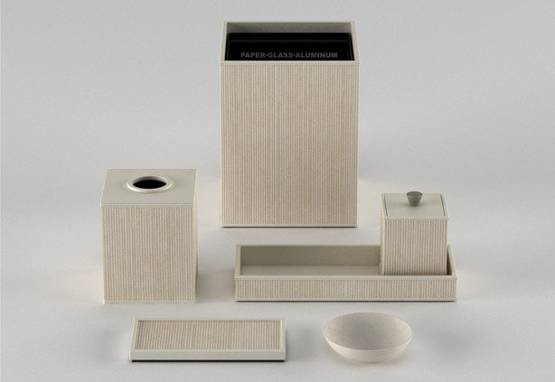 Bathroom accessories_woven leather match_pearl white-614-xxx_q85