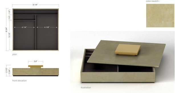 Stationery box warm gray w-gold-614-xxx_q85